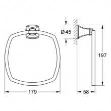 Porte-serviettes anneau Grohe Grandera