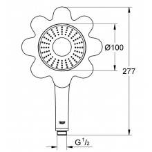 Pommeau d'une position de jet Rose Grohe Rainshower Icon 100