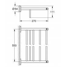 Porte-serviettes multiple Grohe Essentials