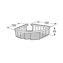 Étagère de bain/douche d'angle 15 cm Hotels 2.0 Roca