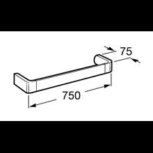 Porte-serviettes de lavabo 75 cm Select Roca