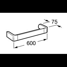 Porte-serviettes de lavabo 60 cm Select Roca