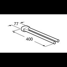 Porte-serviettes double de lavabo pivotant 2.0 Roca