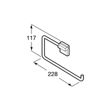 Anneau porte-serviettes Rubik Roca