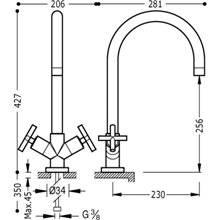 Robinet d'évier mélangeur manuel BIMAX-TRES