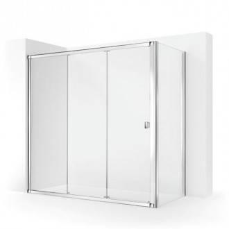 Pare-douche d'angle avec 2 portes coulissantes TECHNIC COSMIC