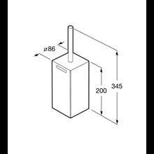 Brosse WC de sol Rubik Roca