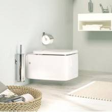 Porte-papier WC avec couvercle Duo square Bath+