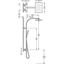 Colonne de douche thermostatique blanche TRES SLIM