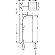 Colonne de douche thermostatique Blanc TRES CUADRO