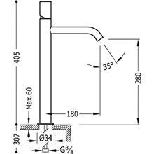 Robinet de lavabo L TUB TRES STUDY