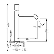 Robinet de lavabo M TUB TRES STUDY
