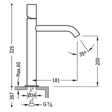 Robinet de lavabo Blanc M TUB TRES STUDY
