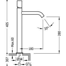 Robinet de lavabo Blanc L TUB TRES STUDY