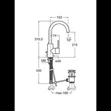 Robinet de lavabo poignée latérale intégrée Targa Roca