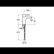 Robinet de lavabo avec attache pour chainette L20 Roca