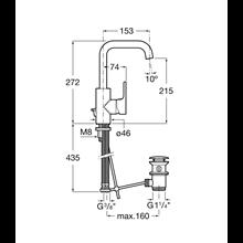 Robinet de lavabo poignée latérale intégrée L20 Roca