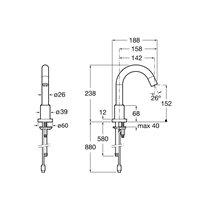 Robinet de lavabo alimentation réseau électrique Loft Roca