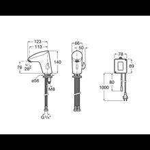 Robinet de lavabo alimentation réseau électrique M2 Roca