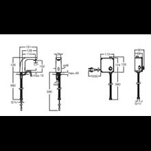 Robinet de lavabo réseau une eau L20 Roca