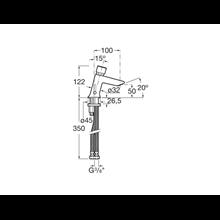 Mitigeur lavabo bouton-poussoir Instant Roca