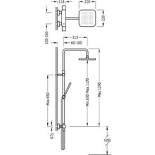 Colonne de douche thermostatique Chr/Rg TRES LOFT