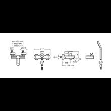 Robinet de baignoire-douche extérieur L20 Roca