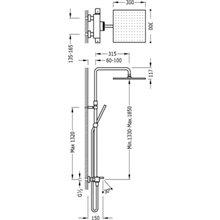 Colonne de baignoire-douche thermostatique CUADRO-TRES