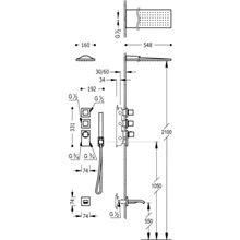 Kit de baignoire-douche thermostatique 3 voies RM CUADRO-TRES