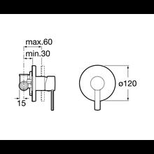 Roca robinet de douche L20