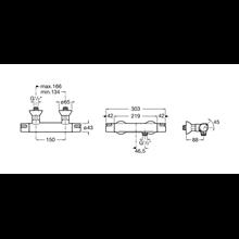 Robinet thermostatique de douche externe T-500...