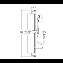 Douche Kit 80cm barre carrée 4 fonctions Sensum...