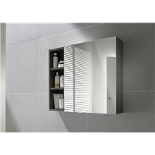 Armoire-miroir 40cm grise Luna Roca