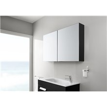 Armoire-miroir 40 cm wengé Luna Roca