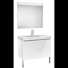 Pack meuble avec plan vasque blanc 90 cm Stratum-N Roca