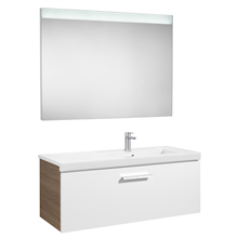 Pack meuble avec plan vasque un tiroir blanc-frêne Prisma Roca