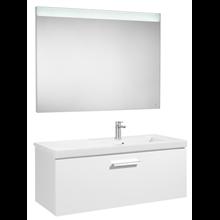 Pack meuble 110cm un placard blanc brillant Prisma Roca