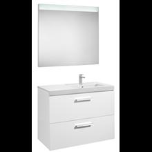 Pack meuble 90 cm deux tiroirs blanc brillant Prisma Roca