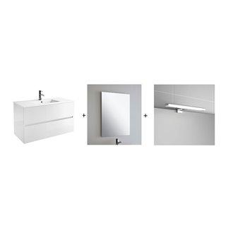 Ensemble pour salle de bains blanc brillant 1000 Fussion Line Salgar