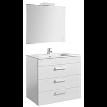 Pack meuble blanc 80 cm 3 tiroirs Debba Roca