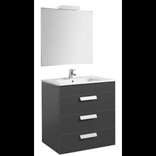 Pack meuble gris 70 cm 3 tiroirs Debba Roca