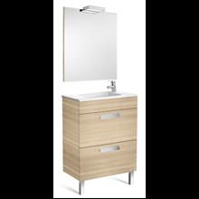 Pack meuble chêne 60 cm compact 2 tiroirs Debba Roca
