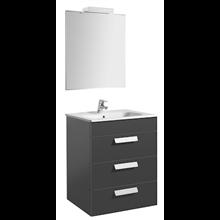 Pack meuble gris 60 cm 3 tiroirs Debba Roca
