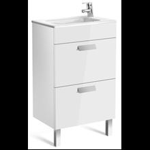 Meuble blanc 50cm compact 2 tiroirs Debba Roca