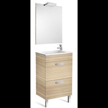 Pack meuble chêne 50cm compact 2 tiroirs Debba Roca