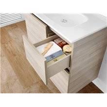 Pack meuble 80 cm blanc Anima Roca
