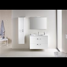 Meuble blanc 80 cm compact 2 tiroirs Debba Roca