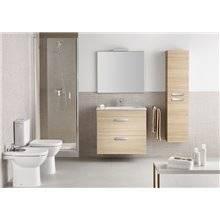 Pack meuble chêne 80 cm compact 2 tiroirs Debba Roca
