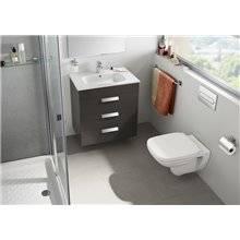Pack meuble gris 80 cm 3 tiroirs Debba Roca
