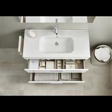 Meuble blanc 70 cm compact 2 tiroirs Debba Roca